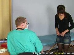 gynecologist fetish mocking the patient