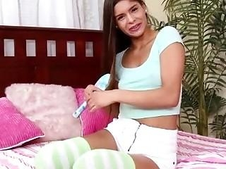 latin girl doing show on webcam