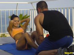 spanish grabbed a personal trainer with a hard cock and came fuck - apolonia lapiedra
