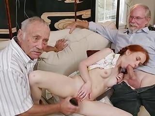 young girl old men fuck hard